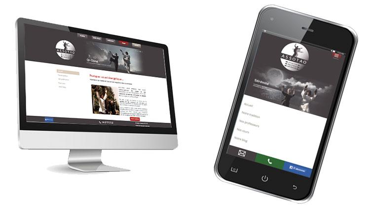 Création site web pour les arts énérgetiques